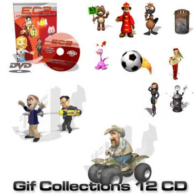300.000 Animated GIF Collections (12 CD)